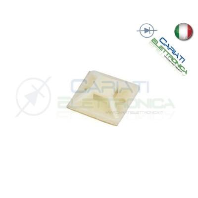 100 PEZZI Supporto Adesivo per Fascette Cablaggi PortaFascette 20 x 20 mm  5,40€