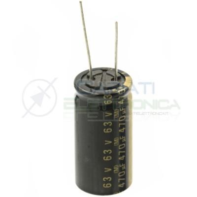 Condensatore elettrolitico 470uF 63V 18X35mm 85° Passo 7,5mm Elna Elna