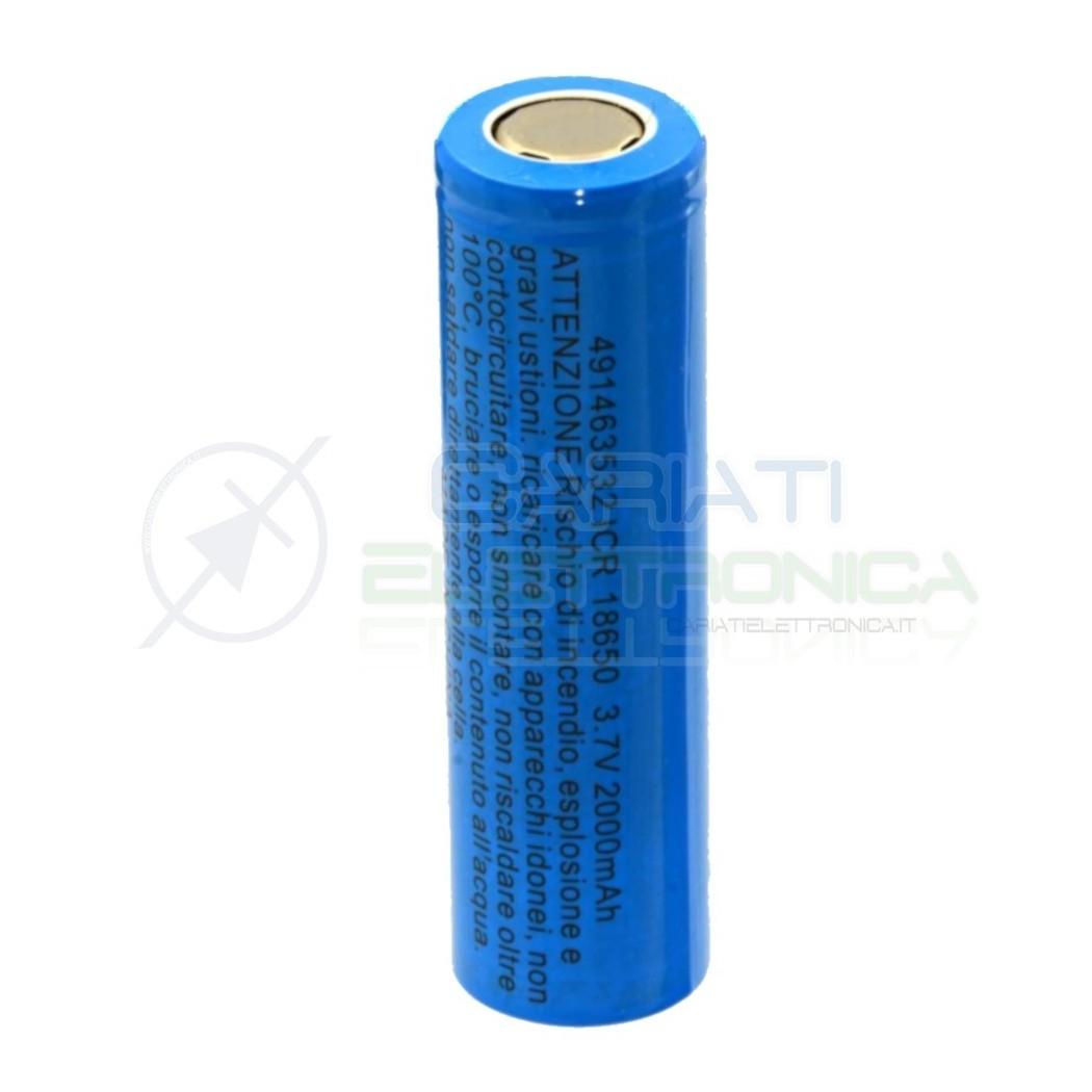 Batteria 18650 ricaricabile pila 18650 2000mah 3.7v li-ion MKC MKC