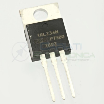 2 PEZZI TRANSISTOR MOSFET IOR IRLZ34N Canale N 55V 30A 68WATT TO-220