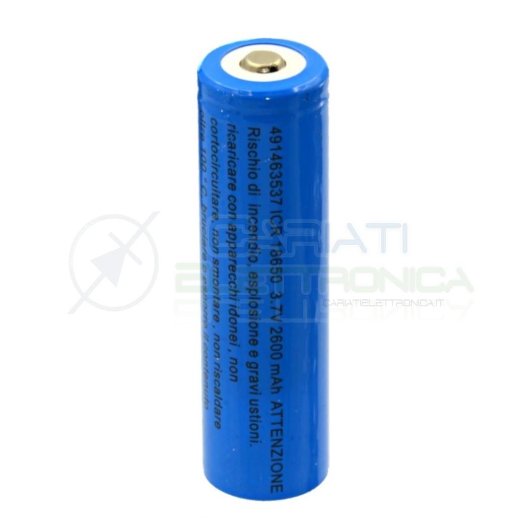 BATTERIA RICARICABLE PILA 18650 2600mah 3.7v li-ion MKC  5,69€