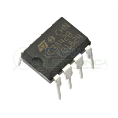 2 PEZZI Controller PWM in corrente UC3842B 1 canalie 1 A flyback 500 kHz DIP8 ST MICROELECTRONICS 0,89€