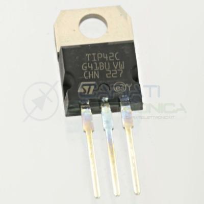 2 pcs TIP42C Transistor PNP 100V 6A 65W TIP 42 C TO-220ST MICROELECTRONICS