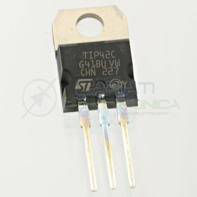 2 Pezzi TIP42C Transistor PNP 100V 6A 65W TIP 42 C TO-220 ST MICROELECTRONICS