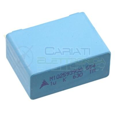 1 PEZZO Condensatore in Polipropilene MKP 1uF 630V Passo 27,5mm 1000nF 10%  1,49€