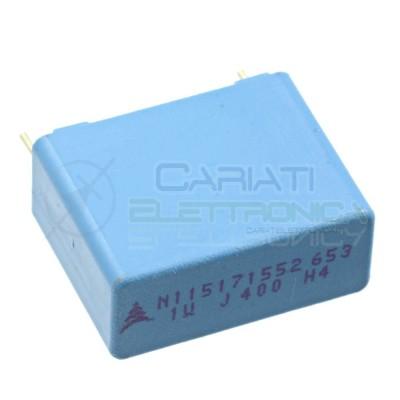 1 PEZZO Condensatore in Polipropilene MKP 1uF 400V Passo 22,5mm 1000nF 5%  1,29€