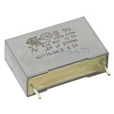 1 PEZZO Condensatore in Polipropilene R46 MKP X2 470nF 0,47 560V Passo 22,5mm 10%
