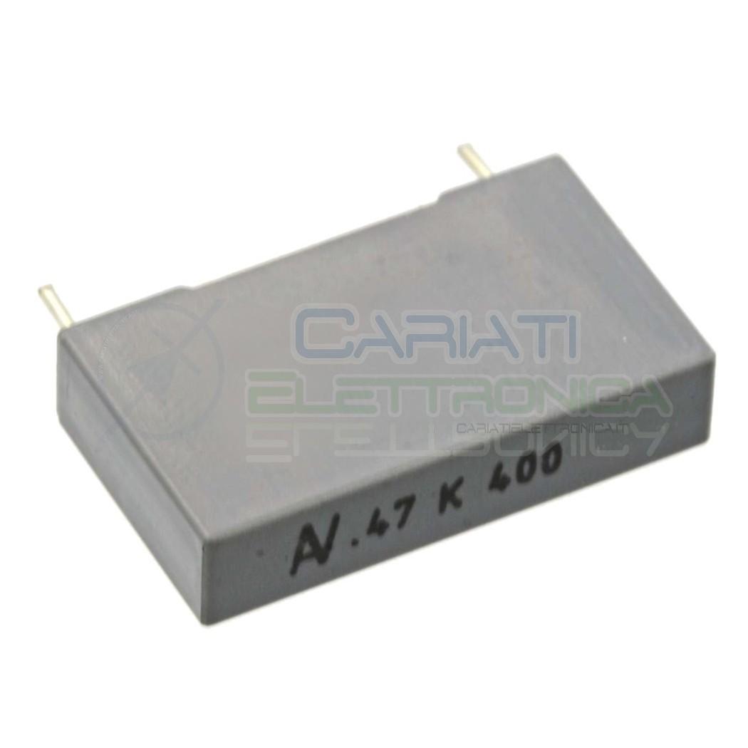 1 PEZZO Condensatore in Polipropilene R60 470nF 0,47uF 400V Passo 22,5mm 10% 0,79 €