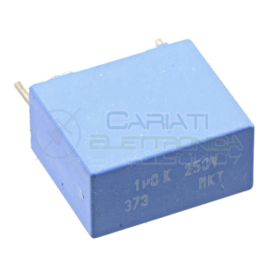 1 PEZZO Condensatore in Poliestere MKT 1uF 1 uF 250V Passo 15mm 10% 0,79 €