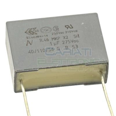 1 PEZZO Condensatore in Polipropilene R46 X2 1uF 1 uF 275V Passo 22,5mm 20%