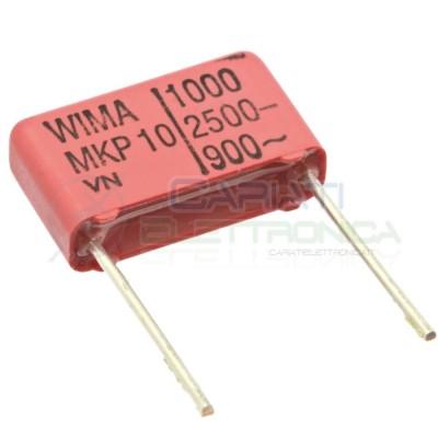 2 PEZZI Condensatore in poliestere WIMA 1nF 2,5KV Passo 15mm 5% MKP10 Wima