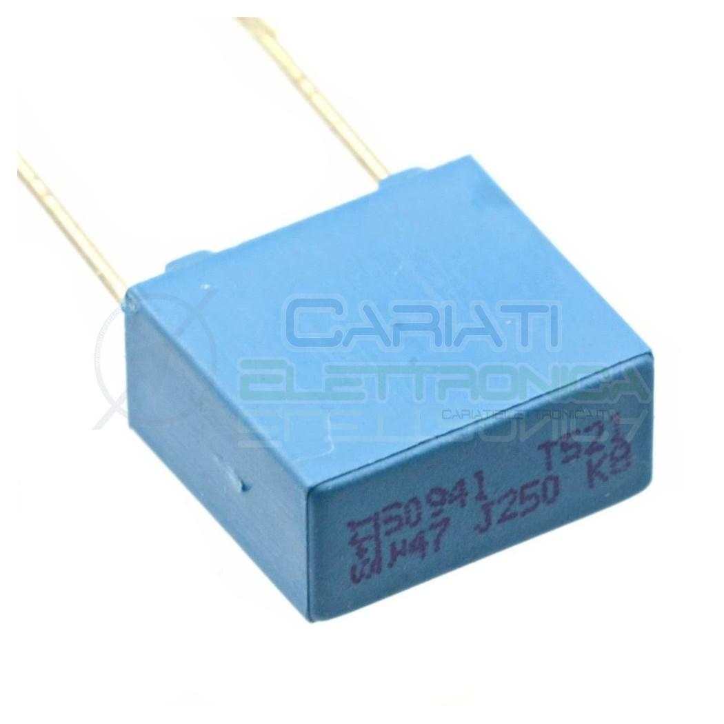 25 PEZZI Condensatore Poliestere 470nF 470 nF 63V P 5mm