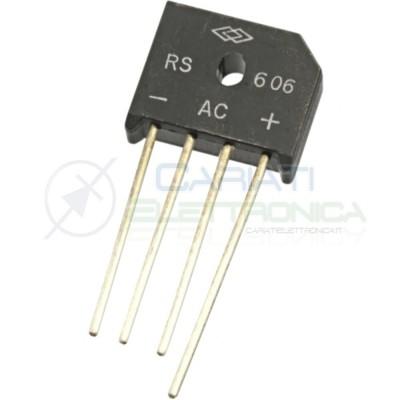 1 Pezzo Ponte raddrizzatore monofase RS606 800V 6A DC COMPONENTSDC COMPONENTS
