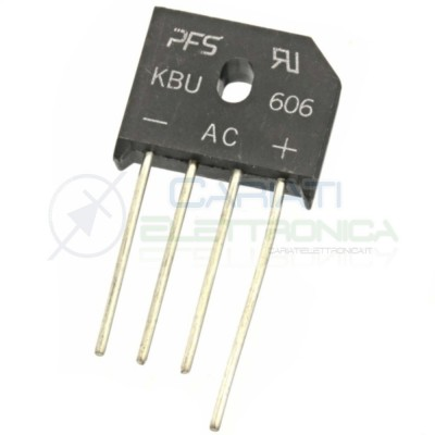 KBU606 600V 6A Single-phase diodes bridge rectifier graetzPfs