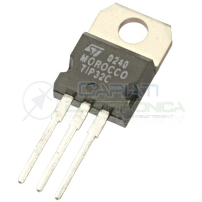 2 PEZZI TRANSISTOR TIP32C PNP 100V 3A 2WATT TO-220 ST MICROELECTRONICS