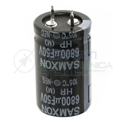 Condensatore elettrolitico SNAP IN 6800uF 50V 105° SAMXON 40X25mm Samxon