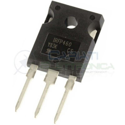 1 PEZZO TRANSISTOR IRFP460 IRFP 460 CANALE N HEXFET MOSFET 20A 500V 278W