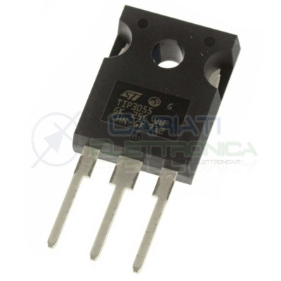 1 PEZZO TRANSISTOR TIP3055 NPN 100V 15A 90W TIP 3055 TO-247ST MICROELECTRONICS