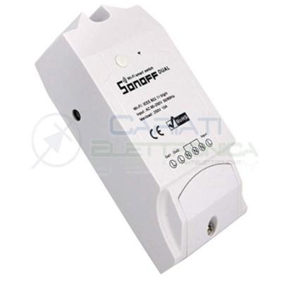 SCHEDA 2 RELè SONOFF DUAL 230V INTERRUTTORE WIFI INTERNET CON APP TELEFONO 16,99 €