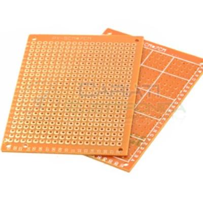 2 PEZZI BASETTA MILLEFORI BREADBOARD 70 x 50 mm Bachelite Mono Faccia Generico