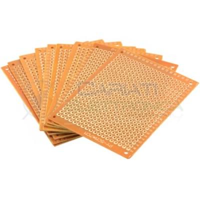 10 PEZZI BASETTA MILLEFORI BREADBOARD 70x50 mm Bachelite Mono Faccia Generico