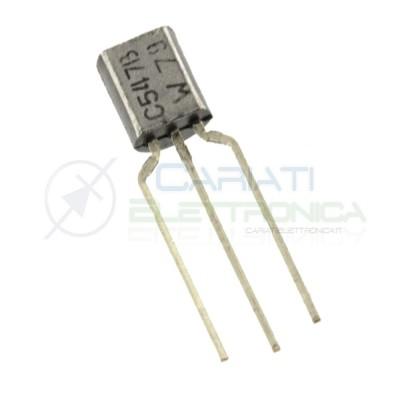 10 PEZZI BC547 NPN Transistor TO92 45V 500mW 100mA 110 hFE