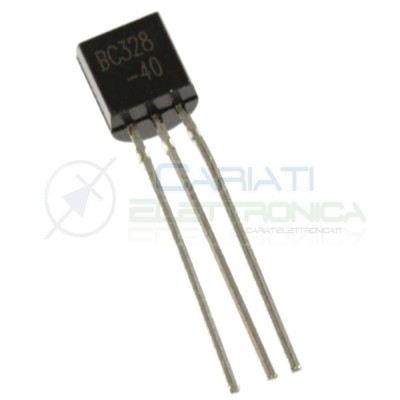10 PEZZI BC328 Transistor PNP 25V 0,5A TO92