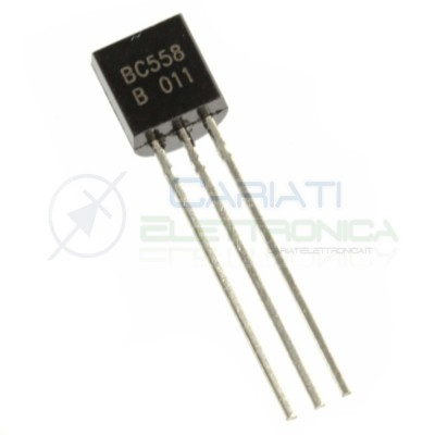 10 PEZZI BC558 Transistor PNP 65V 0,1A TO92