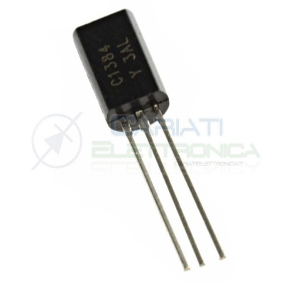 50 Pezzi Transistor 2SC1384 C1384 NPN 60V 1A  2,99€
