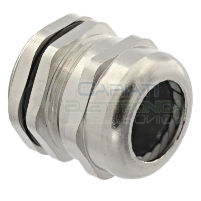 BOCCOLA PRESSACAVO PASSACAVO IN METALLO per cavi 18/13 mm2 Diametro base 28mm