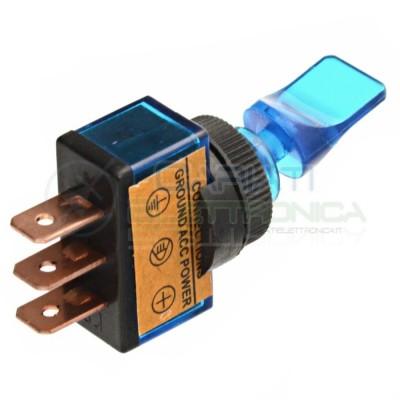Interruttore a Leva Bilanciere Con Luce Blu Tuning 12V 20A SPST