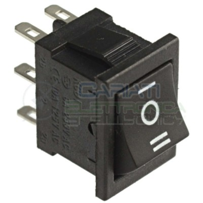 Interruttore Deviatore a Bilanciere 6A 250V ON OFF ON Bipolare DPDT Rocket