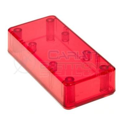 CONTENITORE PLASTICO ROSSO 95x23x45 CUSTODIA PLASTICA ELETTRONICA  2,50€