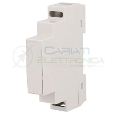 Contenitore Custodia DIN MINI per Guida 90 x 17 x 65 mm Antifiamma Domotica  1,59€