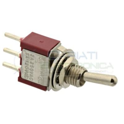 5 Pezzi Interruttore Deviatore a Leva ON ON 5A 120V SPDT per PCB Bilanciere