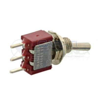 5 Pezzi Interruttore Deviatore a Leva ON ON 5A 120V SPDT per PCB Bilanciere  3,59€