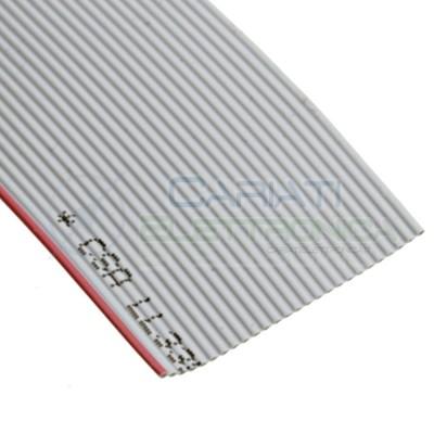 50cm Cavo Piatto Flat 26 Poli 26Pin Ribbon Idc flessibile 28AWG Passo 1,27mm Grigio