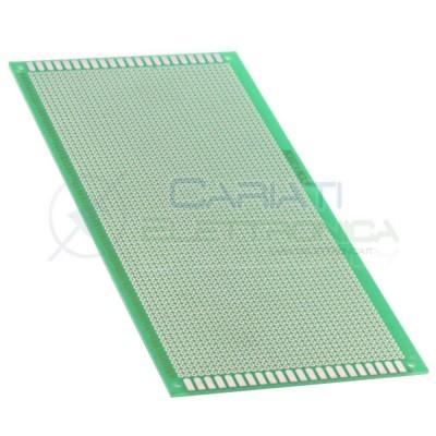 BASETTA MILLEFORI 220 x 100 mm in Vetronite Mono Faccia Passo 2,54mm BREADBOARDCariati Elettronica