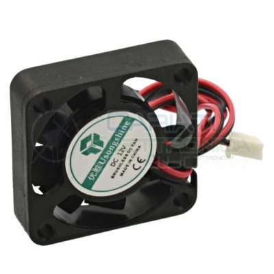 Ventola assiale nera 40 x 40 x 10 mm 12V DC Cooling fan Dissipazione Ventilazione