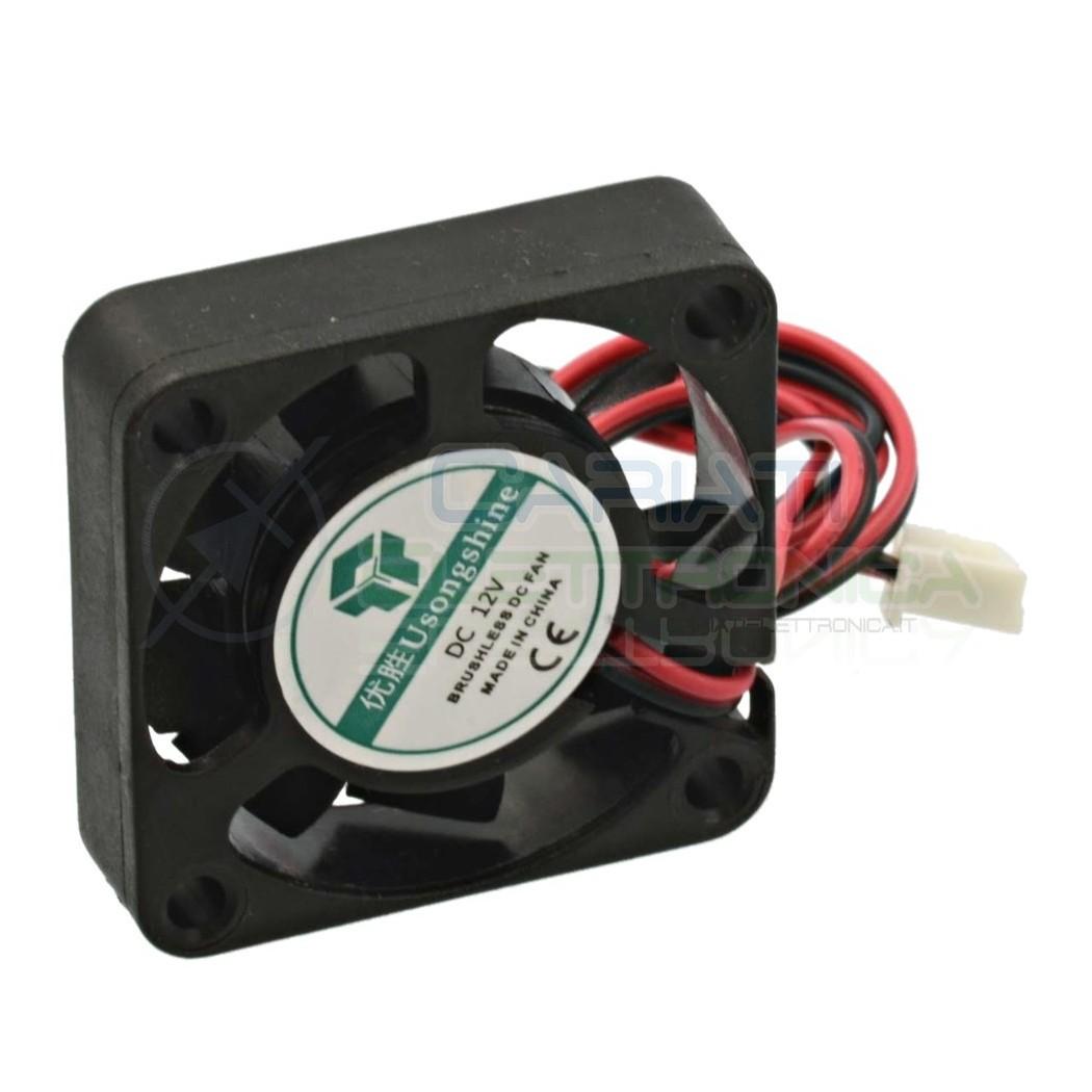 Ventola assiale nera 40 x 40 x 10 mm 12V DC Cooling fan Dissipazione Ventilazione  1,39€