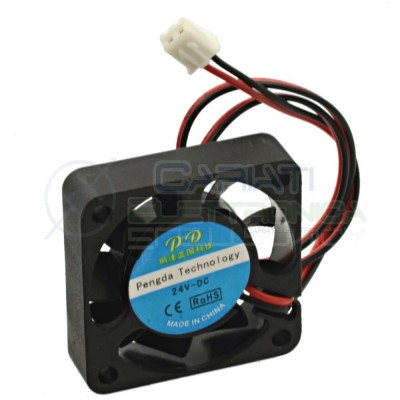 Ventola assiale nera 40 x 40 x 10 mm 24V DC Cooling fan Dissipazione Ventilazione