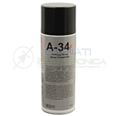 Spray Freezer Congelante Per Riparazione Circuiti Pcb A34-F DUE-CI 400ml Refrigerante Due-Ci