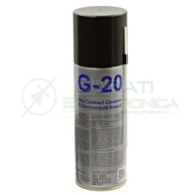 G-20 DUE-CI SPRAY PULISCI CONTATTI A SECCO 200 ml G20 ORIGINALE !!! Due-Ci