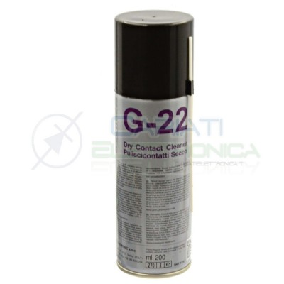 G-22 DUE-CI SPRAY PULISCI CONTATTI A SECCO 200ml G22 Due-Ci 5,50€