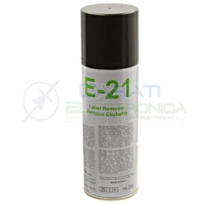 E-21 200 ml DUE-CI SPRAY RIMUOVI ETICHETTE E21 Due-Ci