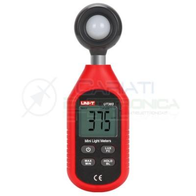 LUXMETRO DIGITALE 0÷9999LUX UNI-T UT383 Tester per misurare intensità Luce Luxometro UNI-T