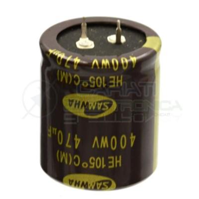 CONDENSATORE ELETTROLITICO 470uF 470 uF 400V 105°C 35x40 mm Passo 10mm SAMWHASamwha