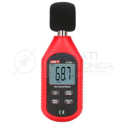 FONOMETRO DIGITALE 30÷130dB UNI-T UT353 Tester per misurare suono rumore Sound Meters UNI-T