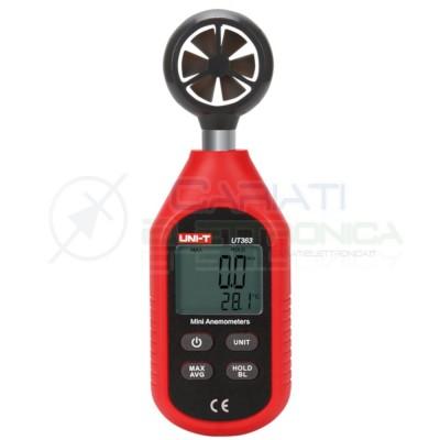 ANEMOMETRO DIGITALE 0÷45 m/s UNI-T UT363 Tester per misurare la velocità del ventoUNI-T