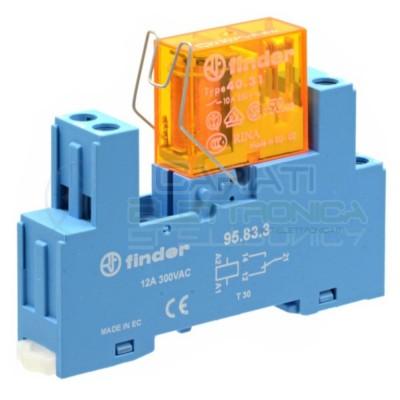 Relè Finder 40.31 230V 10A 5 PIN SPDT con zoccolo per montaggio DIN Finder
